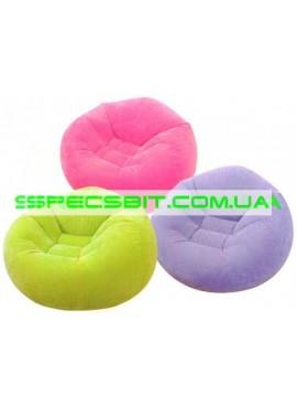 Надувное кресло Cafe Chaise Chair Intex (Интекс) 68569-Z 107-104-69см, зеленое