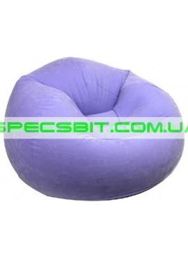 Надувное кресло Cafe Chaise Chair Intex (Интекс) 68569-F 107-104-69см, фиолетовое
