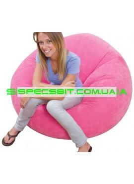 Надувное кресло Cafe Chaise Chair Intex (Интекс) 68569-R 107-104-69см, розовое
