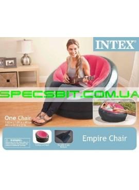 Надувное кресло Empaire Chaire Intex (Интекс) 68582 112-109-69см, розовое