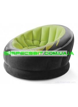 Надувное кресло Empaire Chaire Intex (Интекс) 68582 112-109-69см, зеленое