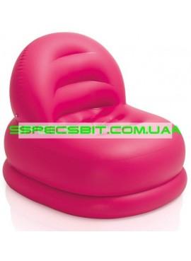 Надувное кресло Cafe Club Chair Intex (Интекс) 68592-R 99-84-76см, розовое