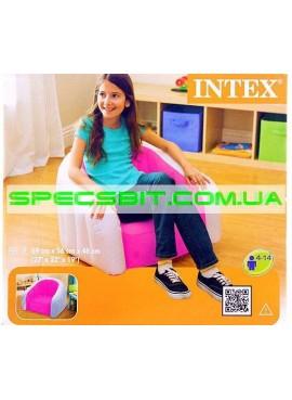 Надувное кресло Cafe Club Chair Intex (Интекс) 68597 69-56-48см, розовое
