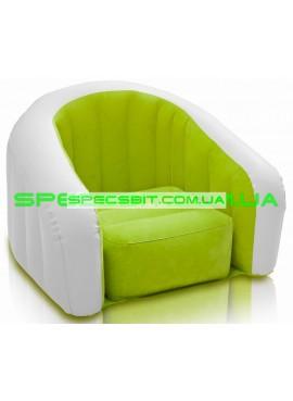 Надувное кресло Cafe Club Chair Intex (Интекс) 68597 69-56-48см, зеленое