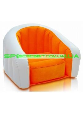 Надувное кресло Cafe Club Chair Intex (Интекс) 68597 69-56-48см, оранжевое