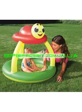 Детский надувной бассейн Lady Bug Sun Shade Pool Bestway (Бествей) 52181 91-84см