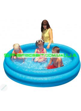 Детский надувной бассейн Crystal Blue Pool Intex (Интекс) 58446 168-38см