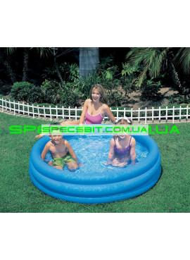 Детский надувной бассейн Crystal Blue Pool Intex (Интекс) 58426 147-33см