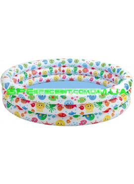 Детский надувной бассейн Smiling Fish & Friends Pool Intex (Интекс) 56440 168-41см