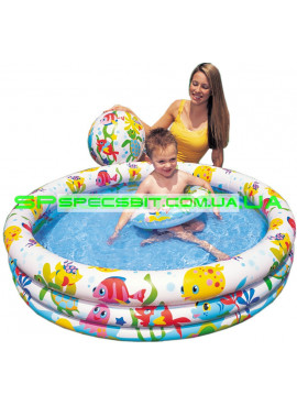 Детский надувной бассейн Fishbowl Pool Set Intex (Интекс) 59469 132-28см