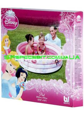 Детский надувной бассейн Disney Princess Pool Bestway (Бествей) 91047 122-25см