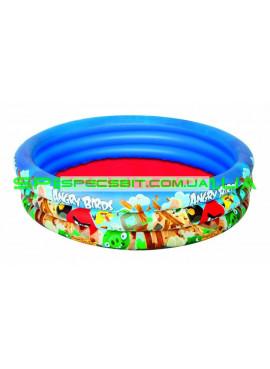 Детский надувной бассейн Angry Birds Bestway (Бествей) 96108 152-30см