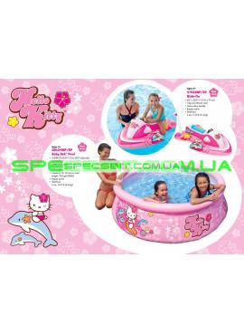 Детский надувной плотик для плавания Hello Kitty Intex (Интекс) 57522 117-77см