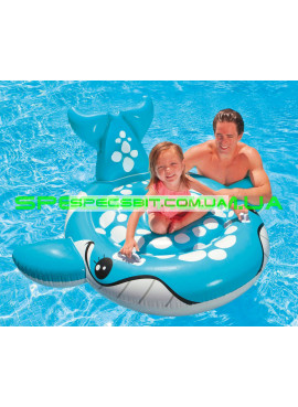 Детский надувной плотик для плавания Fish And Friends Baby Float Intex (Интекс) 57527 160-152см