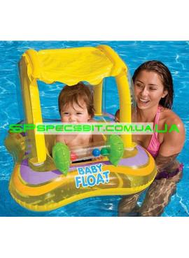 Детский надувной плотик для плавания Baby Float Intex (Интекс) 56581 81-66см