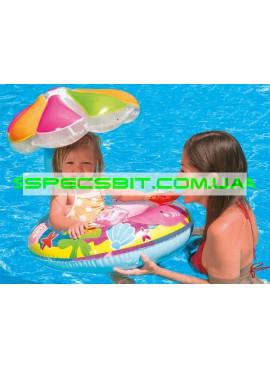 Детский надувной плотик для плавания Fish And Friends Baby Float Intex (Интекс) 56583 112-64см