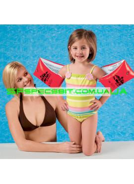 Детские нарукавники для плавания Large Deluxe Arm Bands Intex (Интекс) 58641 30-15см