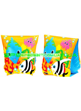 Детские нарукавники для плавания Fish Intex (Интекс) 58652 23-15см