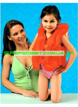 Детский надувной жилет Deluxe Swim Vest Intex (Интекс) 58671 50-47см