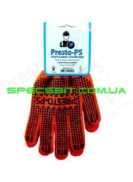 Перчатки трикотажные с ПВХ Presto (Престо) 103 о/с 7класс 70/30 для строительных работ