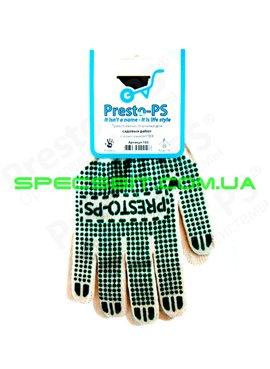 Перчатки трикотажные с ПВХ Presto (Престо) 105 б/з 10класс 10/90 для садовых работ
