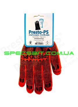 Перчатки трикотажные с ПВХ Presto (Престо) 110 о/з 10класс 60/40 универсальные