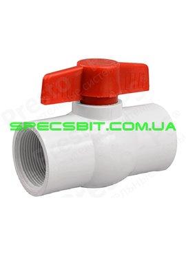 Кран шаровый белый Presto №PV-0132 (Престо)  с внутренней резьбой 1 дюйм