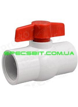 Кран шаровый белый Presto №PV-0140 (Престо) с внутренней резьбой 1 1/4