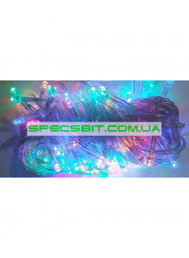 Гирлянда электрическая LED 300 ,мульти, прозрачный провод SH129