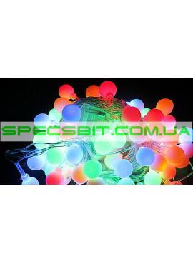 Гирлянда электрическая Шарики LED 28, светодиодная, прозрачный провод SH144