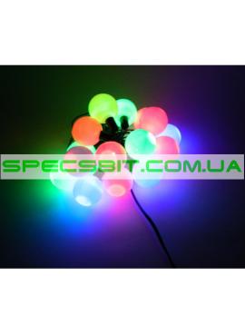 Гирлянда электрическая Шарики LED 15, светодиодная, черный провод SH143