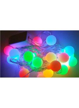 Гирлянда электрическая Шарики LED 20, светодиодная, прозрачный провод SH145