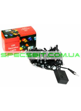 Гирлянда электрическая LED 80, d-1,6 см, 4 цвета, 8 функций SH136