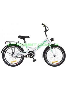 Велосипед городской/складной Formula Smart 20 с фонарем/рама-13 белый/зеленый OPS-FR-20-033