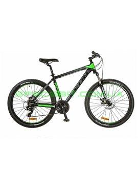 Велосипед горный MTB кросс-кантри LEON HT 80 рама-18 черный/зеленый