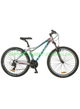 Велосипед горный MTB кросс-кантри LEON HT LADY рама-16 белый/голубой