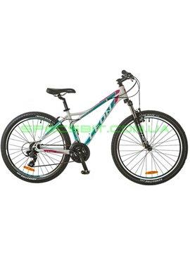 Велосипед горный MTB кросс-кантри LEON HT LADY рама-18 белый/голубой