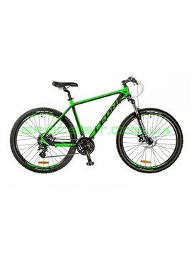 Велосипед горный MTB LEON XC 80 рама-20 черный/зеленый OPS-LN-27.5-015