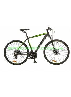 Велосипед дорожный/горный MTB LEON HD 80 рама-21 серый/зеленый OPS-LN-28-011
