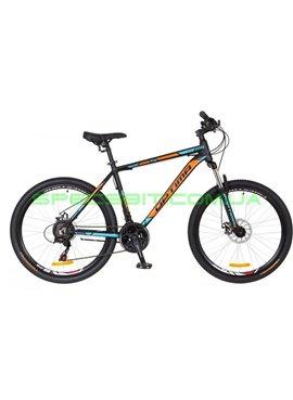 Велосипед горный MTB кросс-кантри Optima Motion DD 26 рама-19 черный/оранжевый/серый OPS-OP-26-064-1