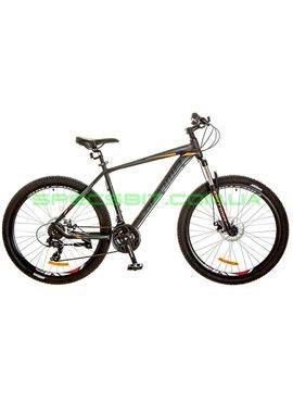 Велосипед горный MTB кросс-кантри Optima F-1 DD 27,5 рама-19 черный/оранжевый OPS-OP-27.5-009