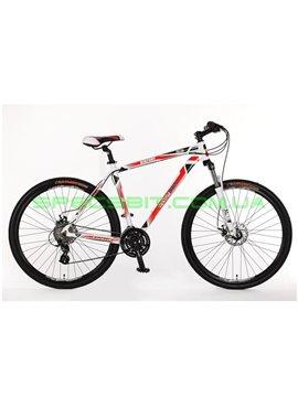 Велосипед горный MTB кросс-кантри Optima Bigfoot DD рама-21 белый/красный SKDCH-OP-29-011-1