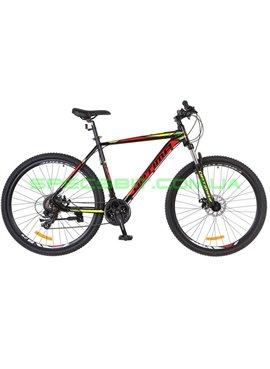Велосипед горный MTB кросс-кантри Optima F-1 DD 29 рама-21 черный/красный/желтый OPS-OP-29-041