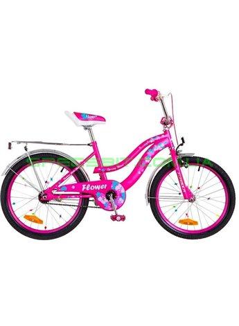 Велосипед Детский двухколесный для девочек Formula Flower 20 малиновый OPS-FRK-20-050