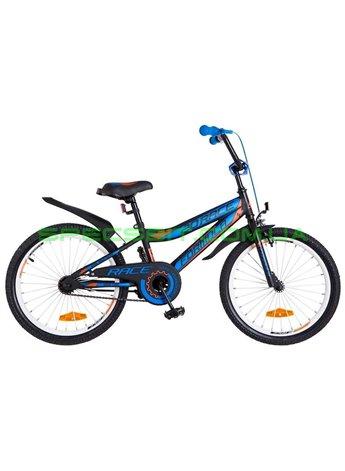 Велосипед детский двухколесный Formula Race 20 черно-синий с оранжевым OPS-FRK-20-045