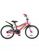 Велосипед детский двухколесный для девочек Formula Race 20 малиновый с оранжевым OPS-FRK-20-047