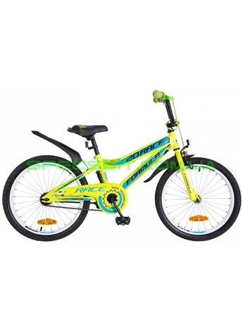 Велосипед детский двухколесный Formula Race 20 зелено-оранжевый OPS-FRK-20-043