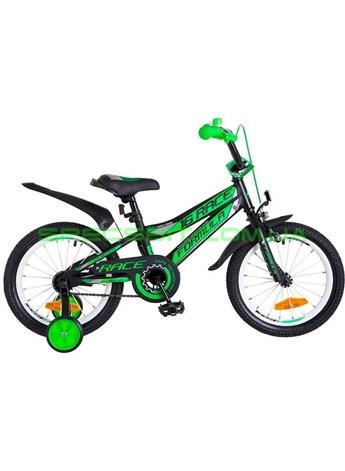 Велосипед детский двухколесный Formula Race 16 черно-салатный OPS-FRK-16-034