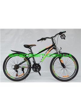 Велосипед Pelican 24 CASPER рама-13 черн-оранж-зел