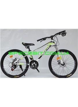 Велосипед Pelican 24 TRAFFIC рама-12 бел-черн-зел